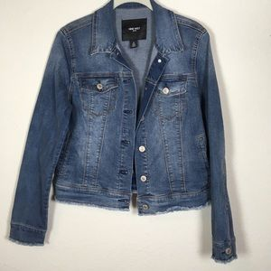 Nine West Raw Hem Distressed Trucker Jacket M